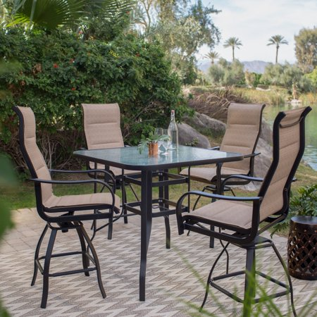 Coral Coast Wimberley 5 Piece Balcony Height Dining Set ()