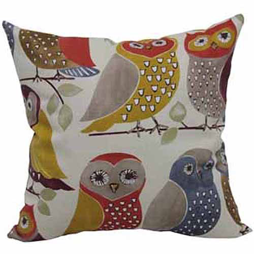 Mainstays Owl Throw Pillow, Multi-Colored