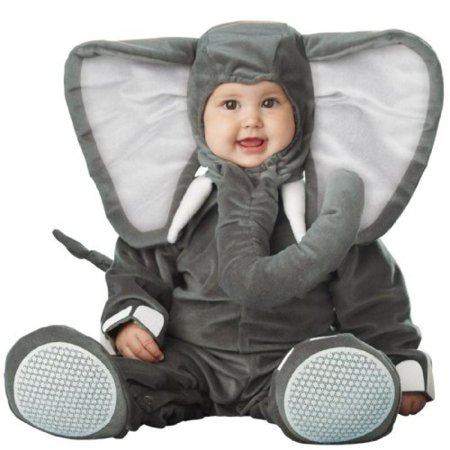 InCharacter Costumes Baby's Lil' Elephant Costume, Grey, Small/6-12 Months (Dr Jean Grey Costume)