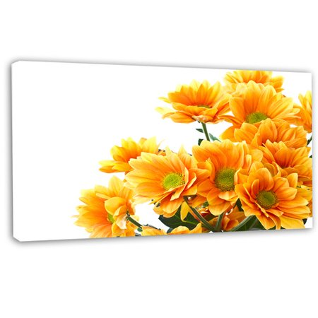 Design Art 'Orange Flowers Chrysanthemum' Photographic Print on Wrapped Canvas