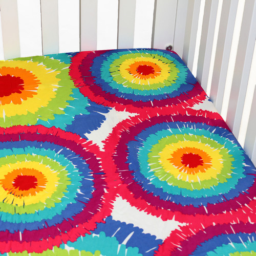 One Grace Place Terrific Tie Dye Flat Crib Sheet