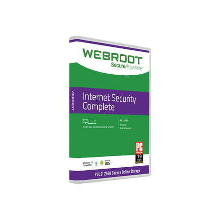 Webroot SecureAnywhere Internet Security Complete - Box pack (2 years) - 5 devices - DVD - Win, Mac, Android, iOS