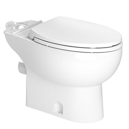 Saniflo 087 Saniflush Elongated Front Toilet Bowl with Seat