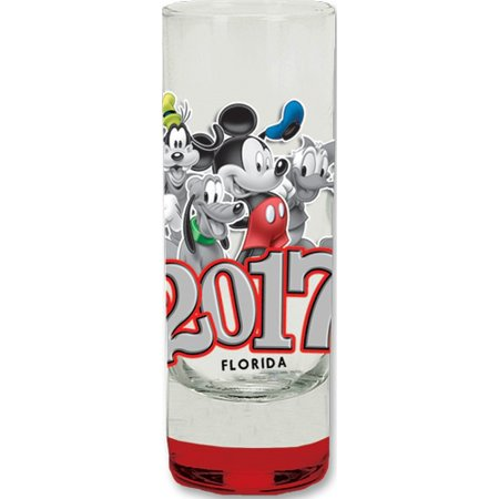 Disney 2017 Group Collection Glass Red (Florida Namedrop)