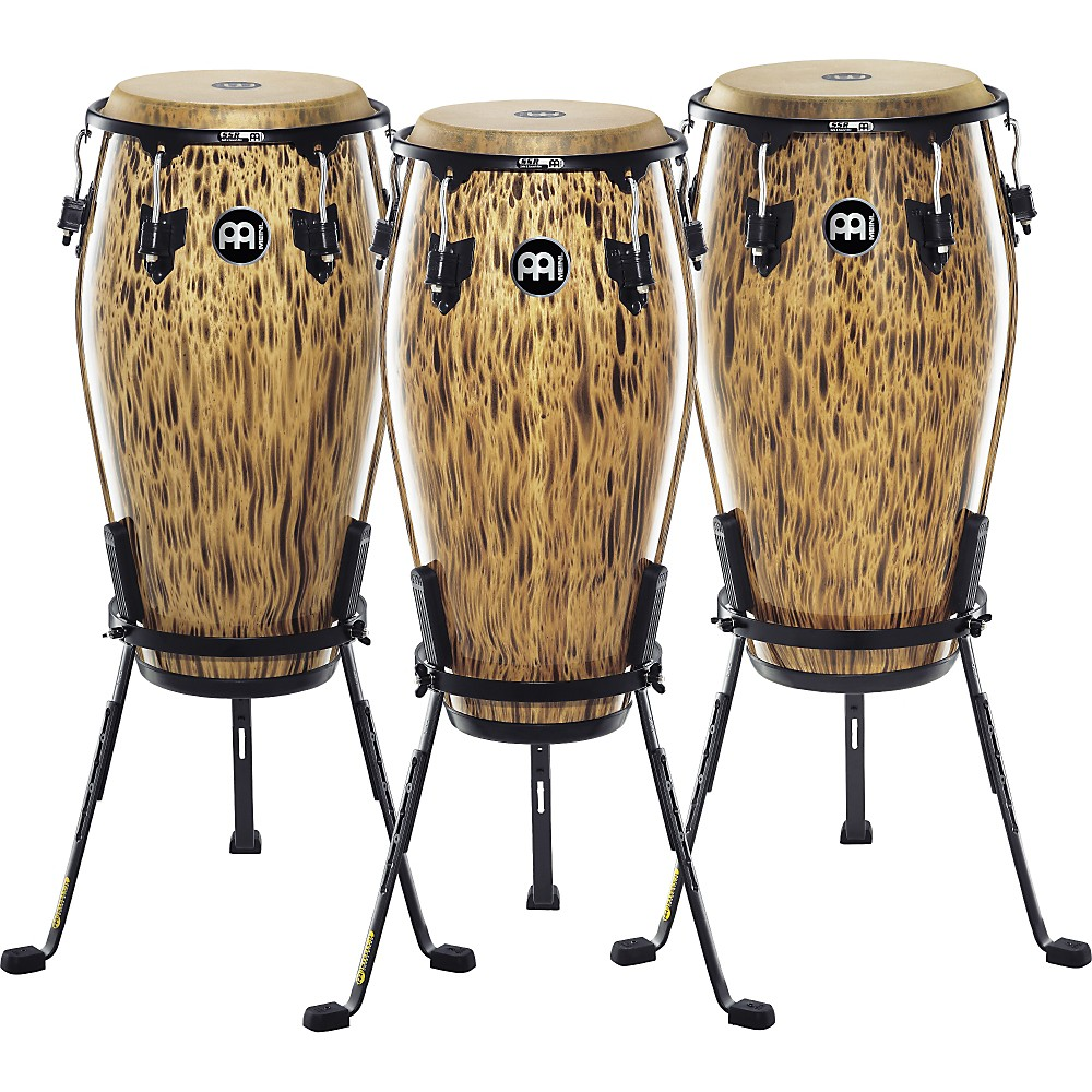 Meinl 30th Anniversary Edition Marathon Classic Series Conga with Steely II Stand Leopard Burl 11.75
