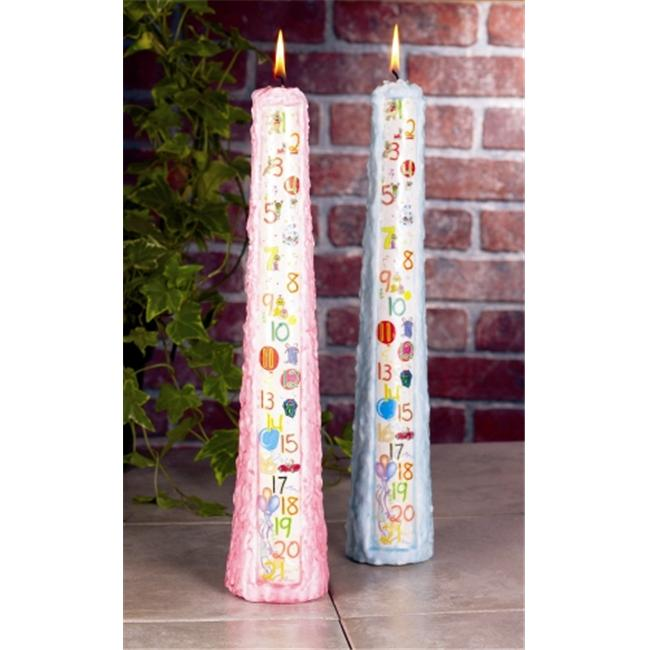 Biedermann & Sons CP241PK Tall Pink Birthday Candle