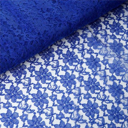 Royal Blur (54 inch x 15 yards Lace Fabric Bolt - Royal)