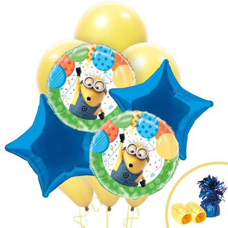 Minion Themed Party (Despicable Me Minions Balloon Bouquet)
