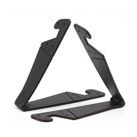 2 Pcs Black V Shaped Plastic Cellphone Mobile GPS MP4 Holder Shelf for Car - image 1 of 2