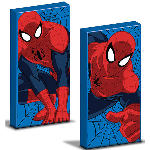 Marvel Spider-Man Glow in the Dark 2-Pack Canvas Wall Art
