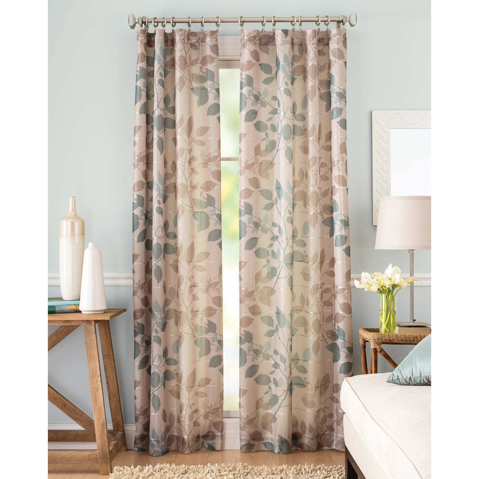 Better Homes And Gardens Shadow Leaf Curtain Panel