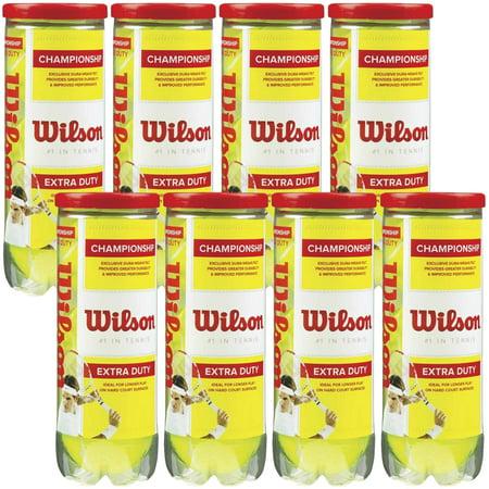 Wilson Championship Extra-Duty Tennis Balls (8 cans, 24