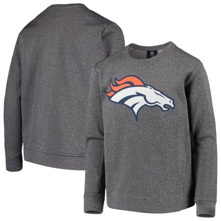 best website c3729 a24e6 Denver Broncos Nike Youth Fleece Crew Sweatshirt - Heathered Gray