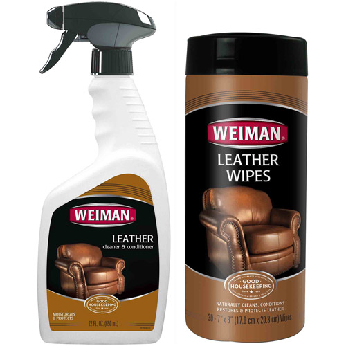 Weiman Leather Cleaner & Conditioner Care Set, 2 pc