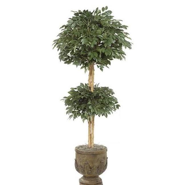 Autograph Foliages W-1512 - 6 Foot 2 Ball Sakaki Topiary - Green