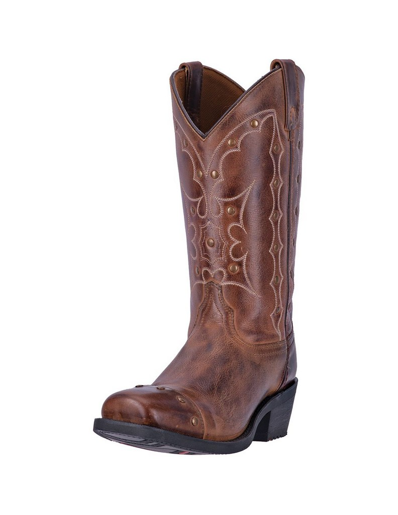 Dingo Western Boots Mens Gavin Cowboy Square Toe Leather Brown DI5715 by Dingo