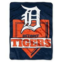 "Detroit Tigers The Northwest Company 60"" x 80"" Home Plate Raschel Plush Blanket"
