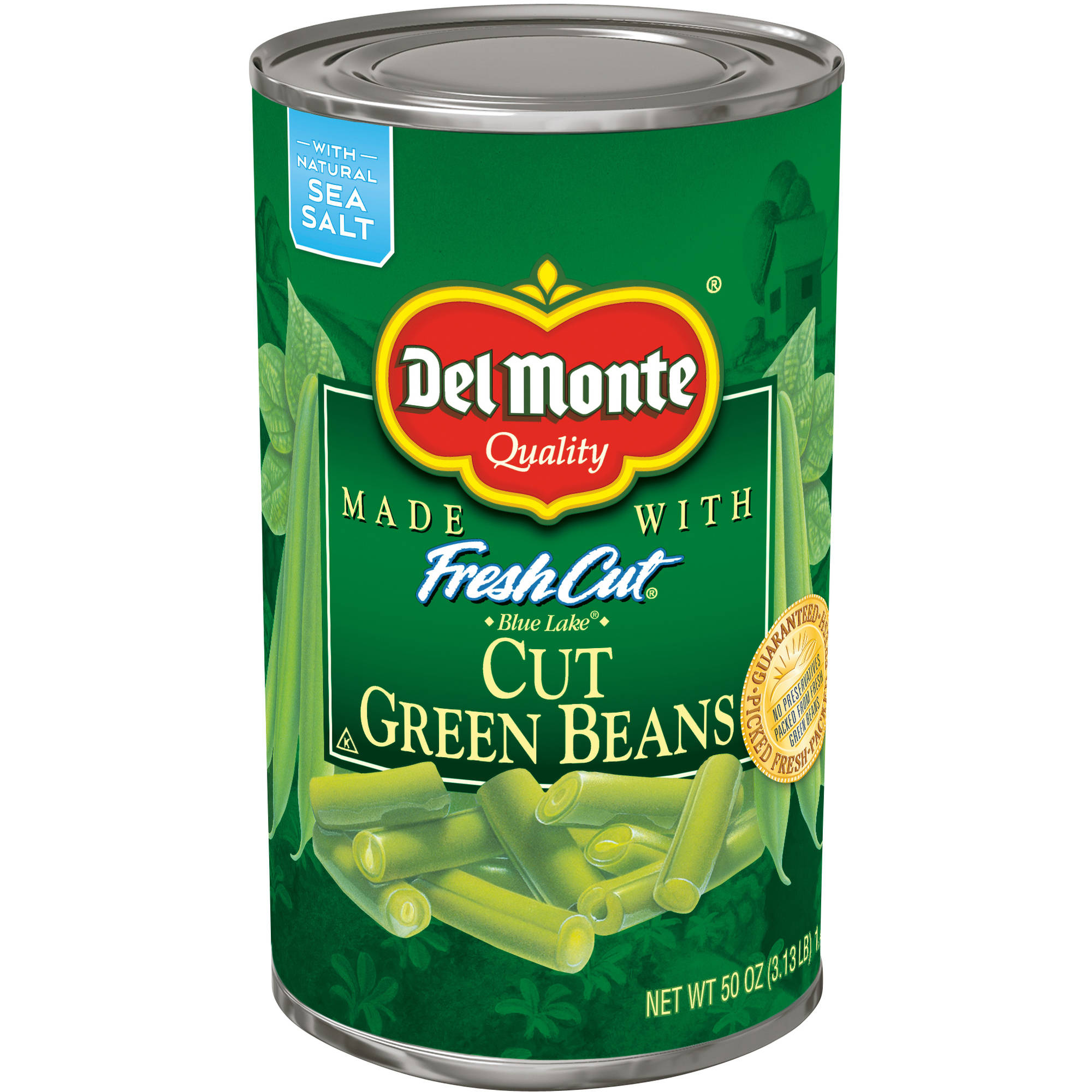 Del Monte FreshCut Blue Lake Cut Green Beans, 50 oz