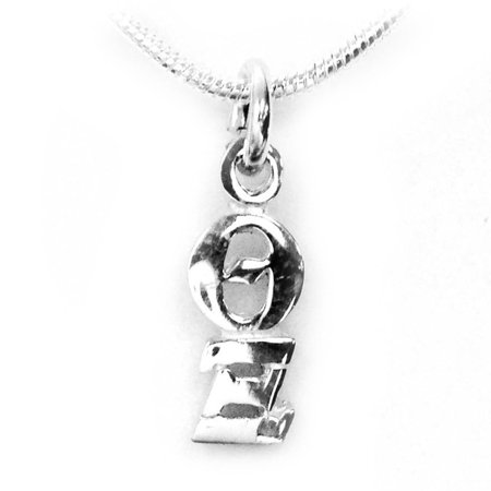 Sterling Silver Lavalier (Theta Xi Fraternity Lavalier - Sterling Silver - With Chain)