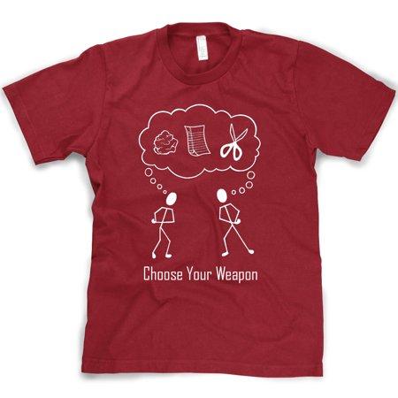 8e49eddc crazy-dog-t-shirts - crazy dog tshirts - choose your weapon funny rock  paper scissors t shirt cool novelty slogan tee - Walmart.com
