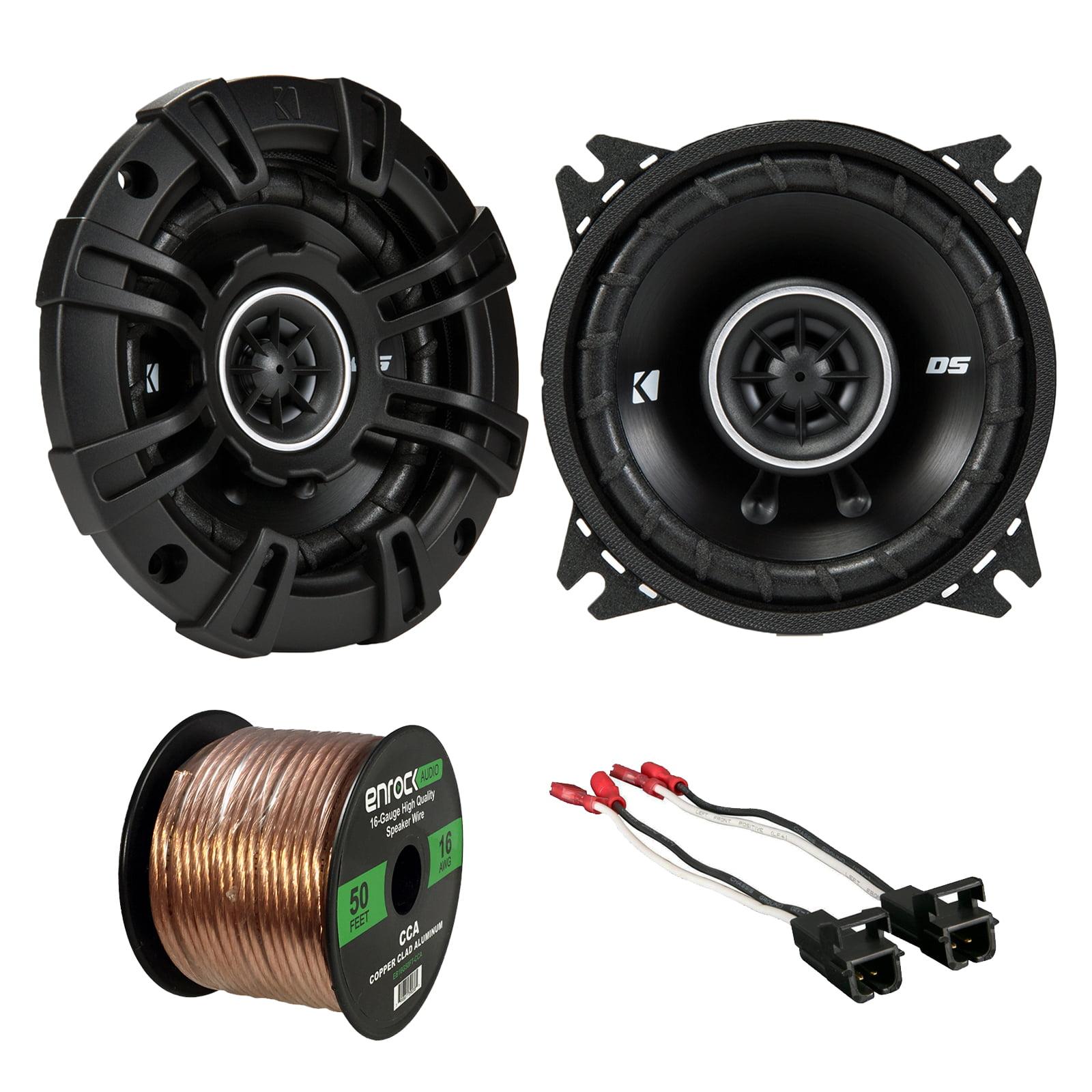 Audio Package: Kicker 43DSC44 D-Series 4-Inch 120 Watt 2-Way Coaxial Speakers (Pair), Metra 72-4568 Speaker Wire Harness for Select GM Vehicles, Enrock Audio 16-Gauge 50 Foot Speaker Wire