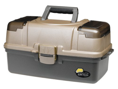 Plano Fishing Large 3-Tray Tackle Box with Top Access, Graphite  Sandstone by Plano