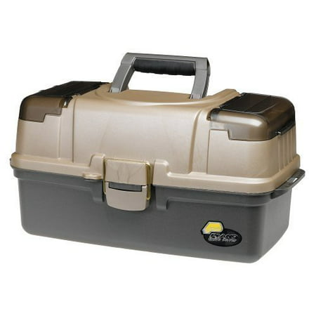 Plano Fishing Large 3-Tray Tackle Box with Top Access, Graphite/