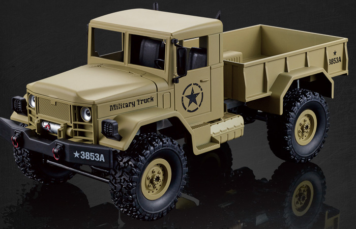 2.4Ghz Radio Control 1 16 4X4 R C High-Imitation U.S. Military Truck Off-Road Crawler... by