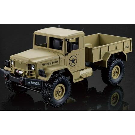 2.4Ghz Radio Control 1/16 4X4 R/C High-Imitation U.S. Military Truck Off-Road Crawler (Yellow) (Rc Trucks 4x4)