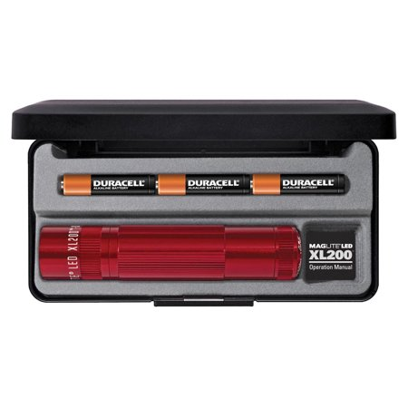 Maglite XL200 LED 3-Cell AAA Flashlight in Presentation Box Red XL200-S3037