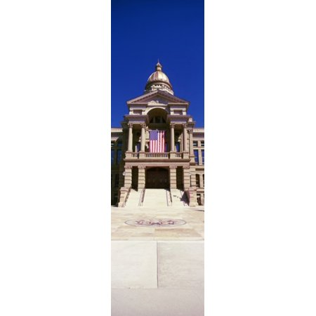Facade of a government building Wyoming State Capitol Cheyenne Wyoming USA  Poster Print