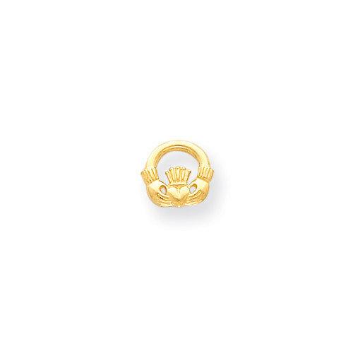Jewelryweb 14k Claddagh Post Earrings