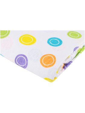 Luvable Friends 100% Cotton FItted Crib Sheets, White