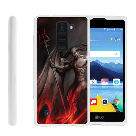 LG K8V, VS500, Flexible Case [FLEX FORCE] Slim Durable TPU Sleek Bumper with Unique Designs - Demon with Wings](Demon With Wings)