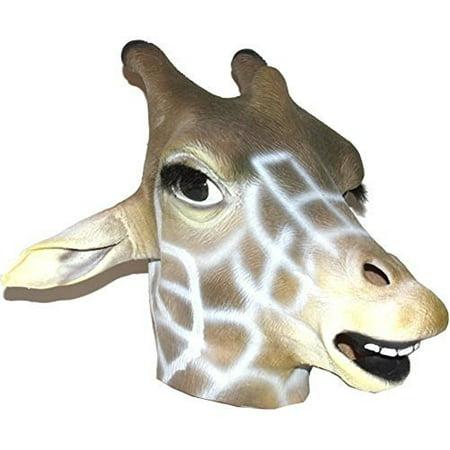 Realistic Giraffe Mask : Full Face Rubber Latex Costume Mask