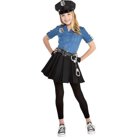Girl Police Costume (Police Dress Halloween Costume for Girls, 3-4T, with Included Accessories, by)