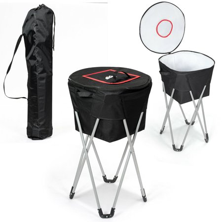 Gymax Portable Insulated Tub Cooler W Folding Stand