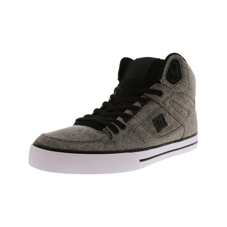 7ae58ae605fc Dc Men s Spartan High Wc Tx Se Black   Heather Grey High-Top Fabric  Skateboarding ...