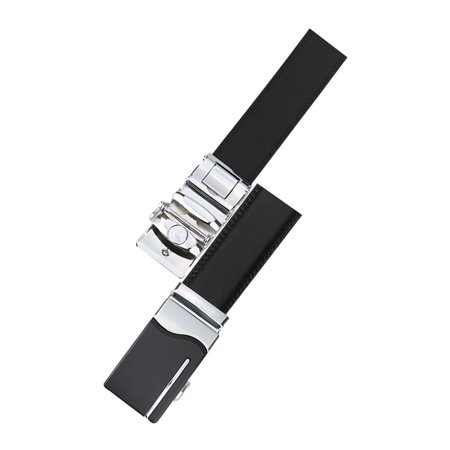 "Men Automatic Buckle Business Dress Leather Belt Width 1 3/8"" Black 140cm - image 3 of 7"