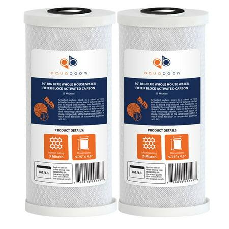 2pk Water Filter Cartridge - 2PK of Big Blue 5µm Coconut Shell Carbon Block Water Filter Cartridge 10