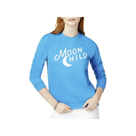 Kid Dangerous Womens Moon Child Fleece Printed (Moon Kids Sweatshirt)