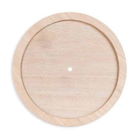 Unfinished Clock Face: Wood with Raised Trim, Round, 9.25 inches
