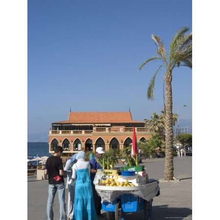 Corn Seller on the Corniche, Beirut, Lebanon, Middle East Print Wall Art By Christian