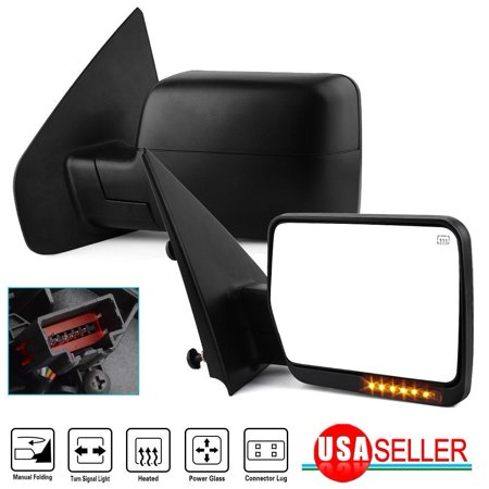 Towing Mirrors Fit for 2004-2006 Ford F150 F-150 Side Mirrors Power Heated LED
