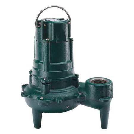 ZOELLER N270 Submersible Sewage Pump, 1HP, 115V, 75ft