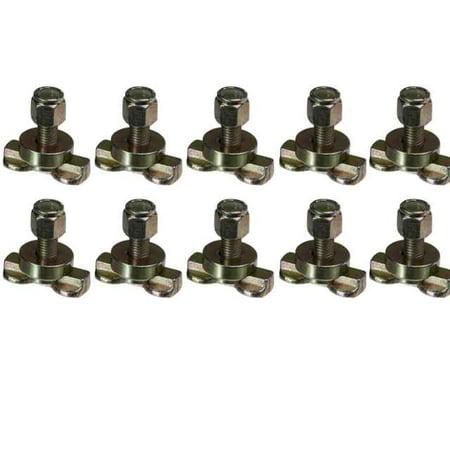 L-Track Double Lug Threaded Stud Fitting - 10 (L Track Double Lug Threaded Stud Fitting)
