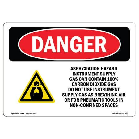 18 Instruments (OSHA Danger Sign - Asphyxiation Hazard Instrument 18
