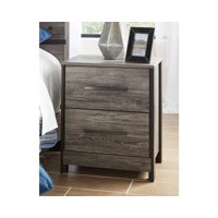 Signature Design by Ashley Cazenfeld USB Black/Gray Two Drawer Nightstand