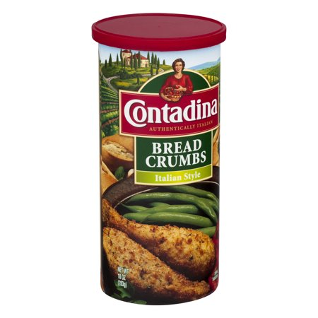 (5 Pack) Contadina Seasoned Italian Style Bread Crumbs 10 oz. Canister ()