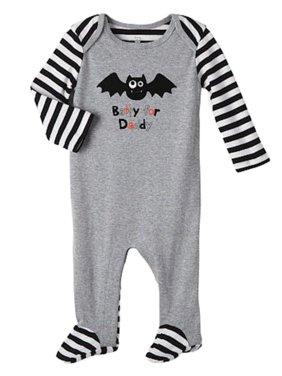 76cc28a2da Product Image Koala Kids Infant Boys Halloween Sleeper Gray Batty for Daddy  Sleep   Play